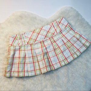 Abercrombie & Fitch Plaid Pleated Micro Mini Skirt